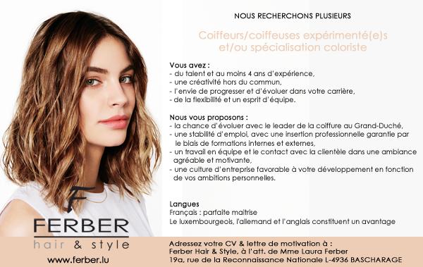Recherche coiffeurs/ses avec ou sans spécialisation coloriste ...