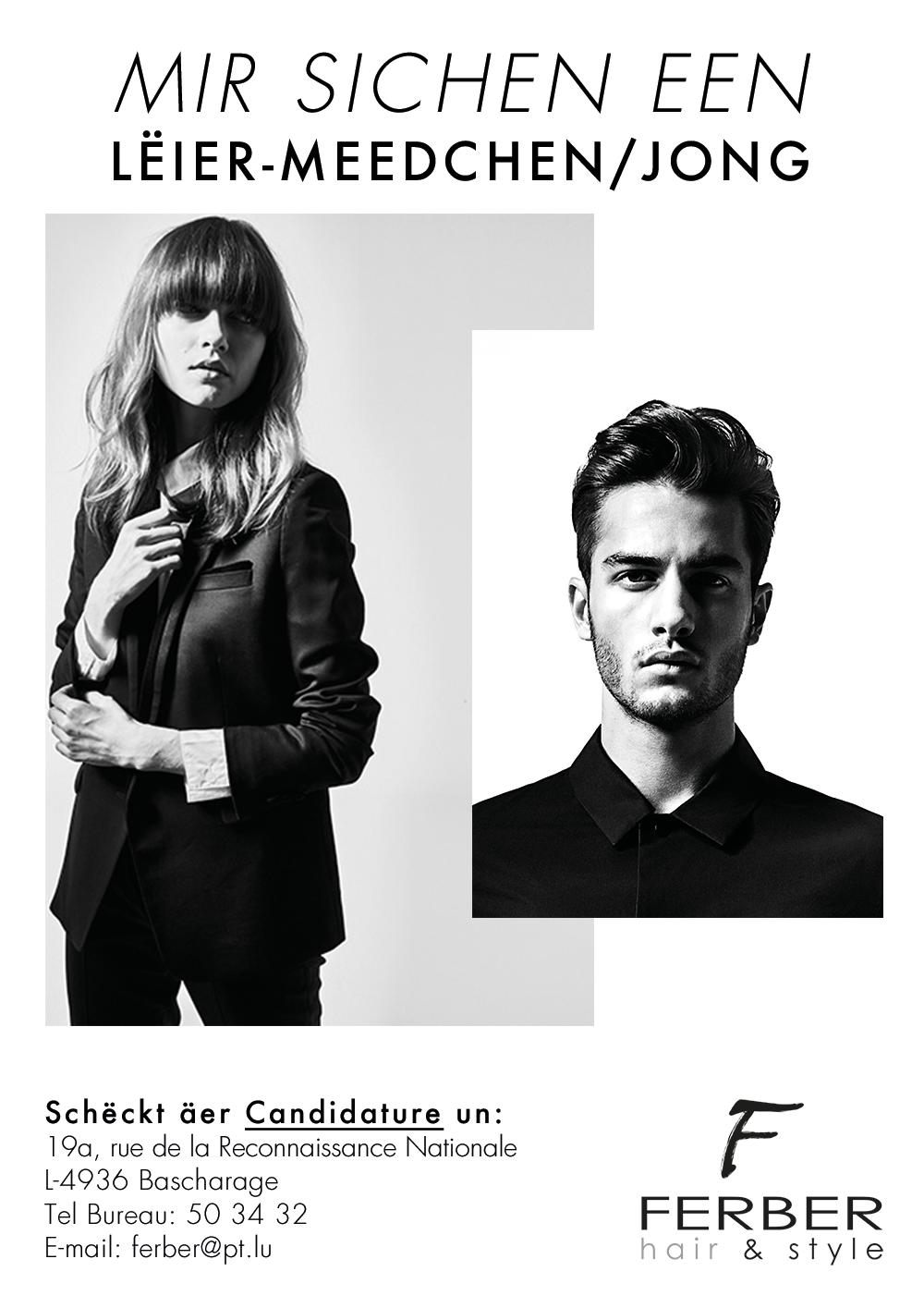 Recherche d apprenti e s ferber hair style - Salon de coiffure qui recherche apprenti ...